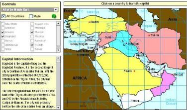 Games with interactive maps to learn geography of the Middle ...